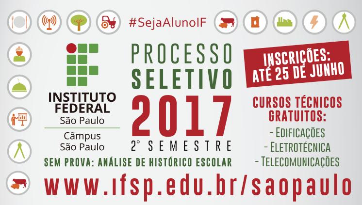Cursos técnicos - ingresso 2º semestre/2017