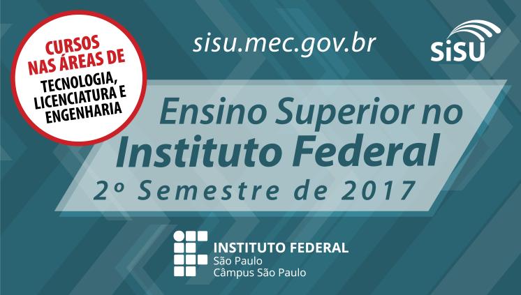 Confira informações sobre o ingresso nos cursos superiores - 2º semestre