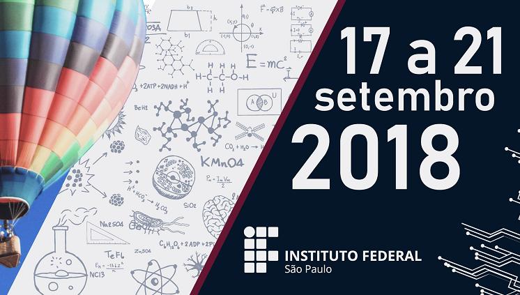 SEDCITEC 2018: 17 a 21 de setembro