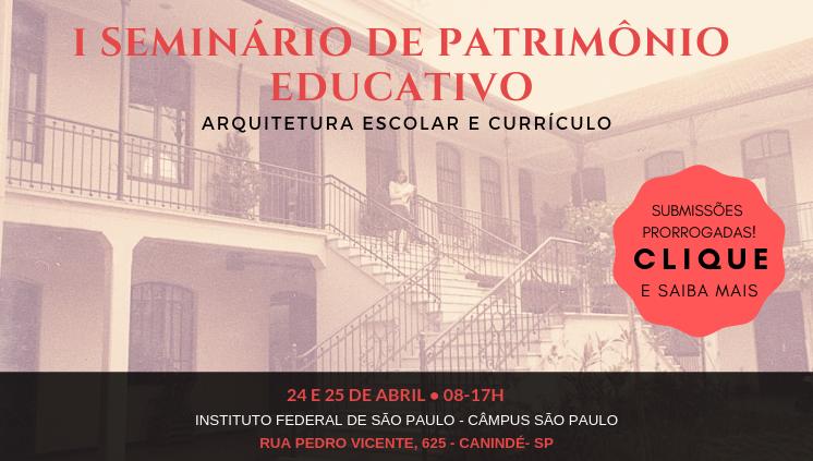I Seminário de Patrimônio Educativo:
