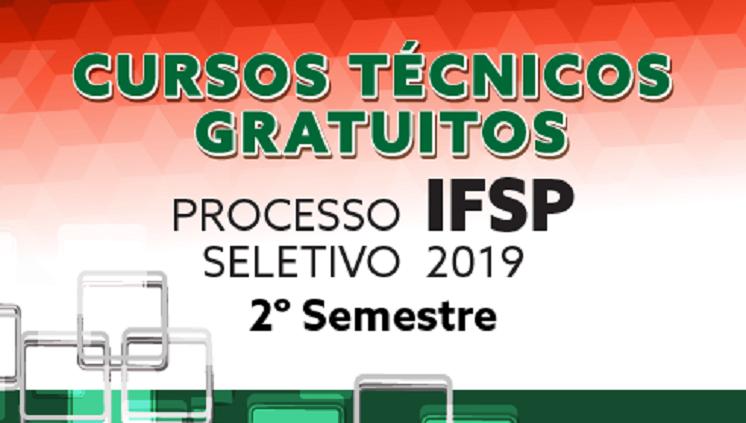 Processo seletivo: ingresso nos cursos técnicos 2019.2